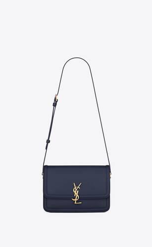 solferino medium satchel in box saint laurent leather