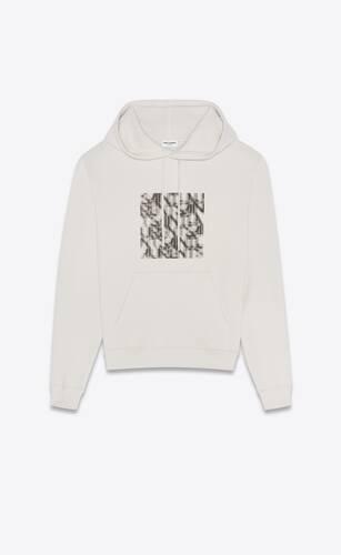 saint laurent optical illusion hoodie
