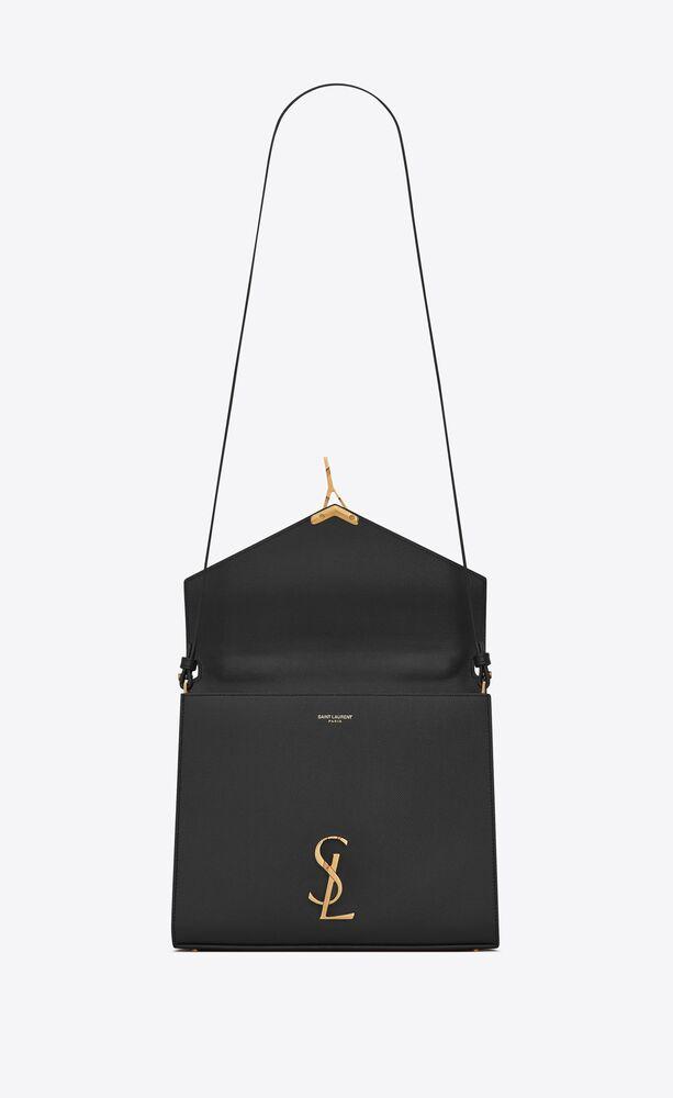 cassandra mittelgroße tasche aus leder mit tragegriff und grain-de-poudre-prägung