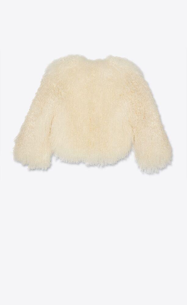 short jacket in mongolian goat hair