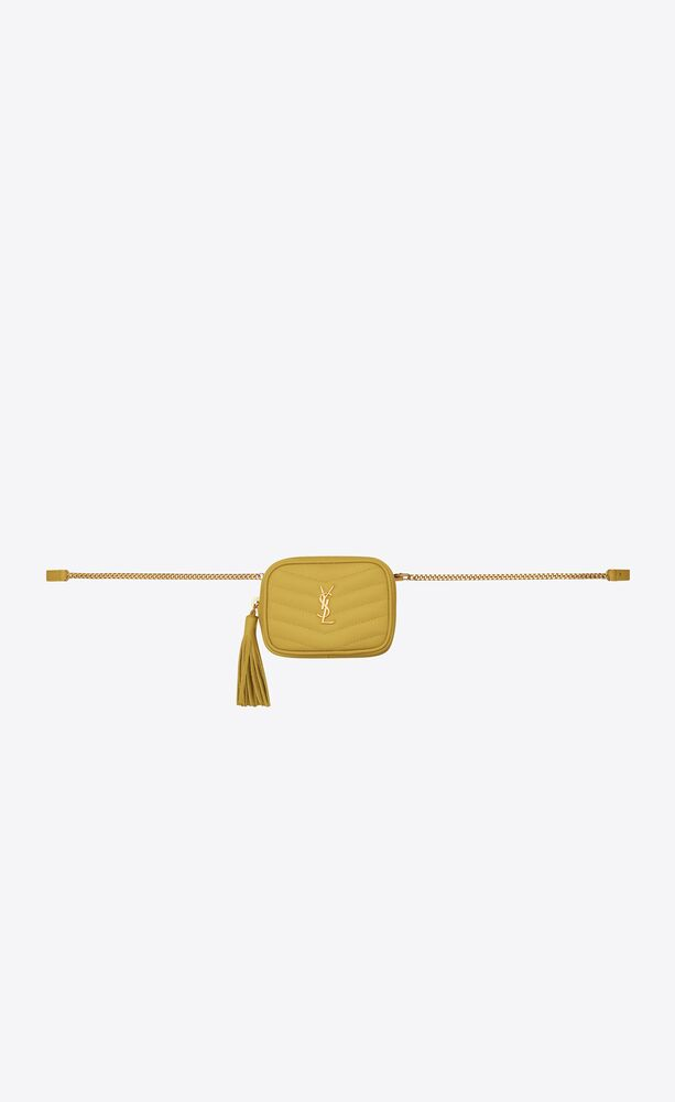 lou baby belt bag in quilted grain de poudre-embossed leather
