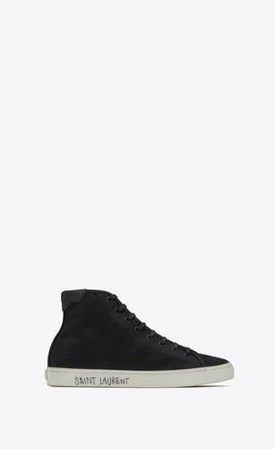 mittelhoch geschnittene malibu sneaker aus canvas und leder