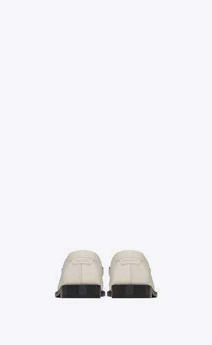 le loafer monogram mocassins en cuir lisse