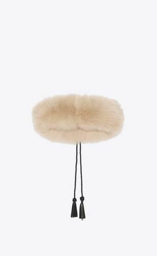 headband in fox fur