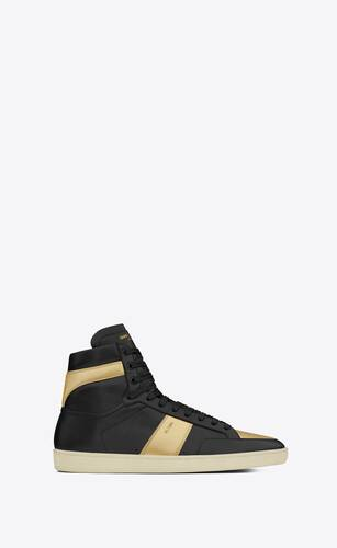 court classic sl/10h sneakers in leather and metallic leather