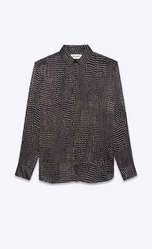pointillism shirt in silk satin