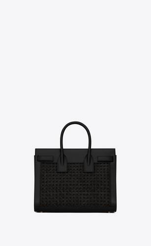 classic sac de jour small in smooth leather and cane