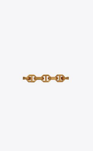 thick anchor-chain bracelet in 18k yellow gold