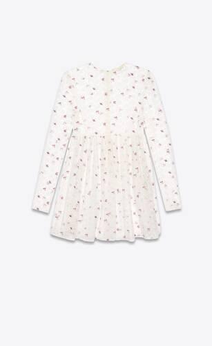robe en dentelle à fleurs brodées