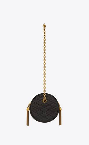 le maillon round chain bag in lambskin