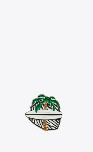 palm tree surfboard pin