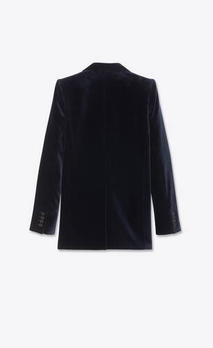 single-breasted jacket in velvet