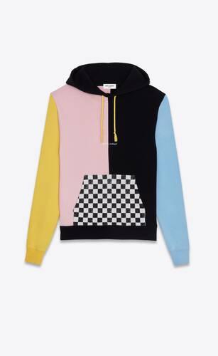 memphis colorblock saint laurent logo hoodie