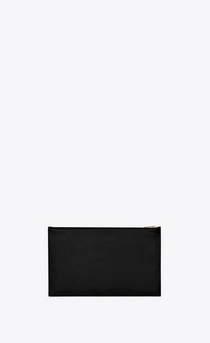 saint laurent paris small pouch in shiny leather