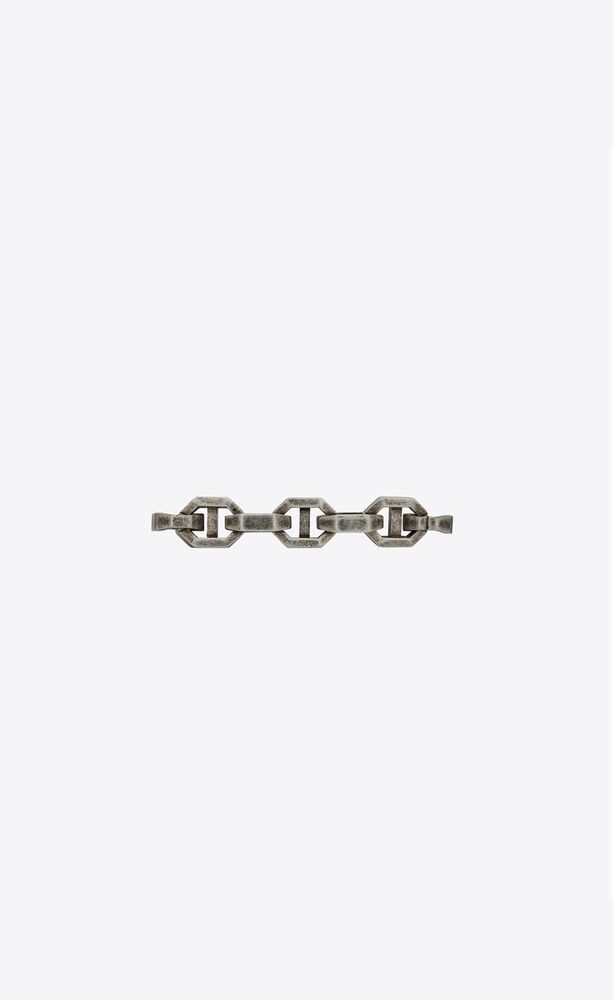 thick anchor-chain bracelet in silver