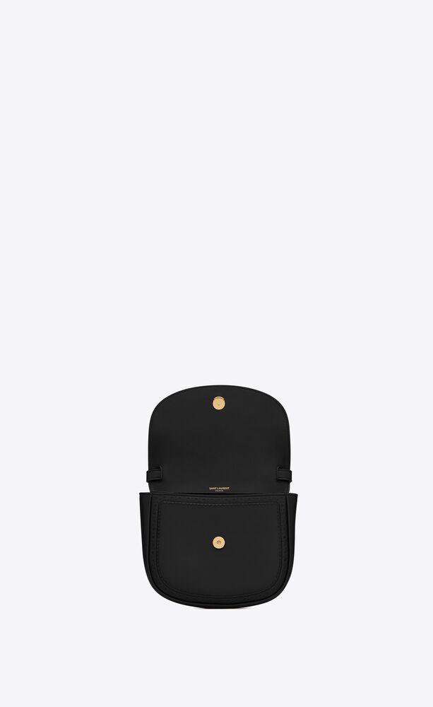 bolso cruzado pequeño kaia de piel lisa perforada
