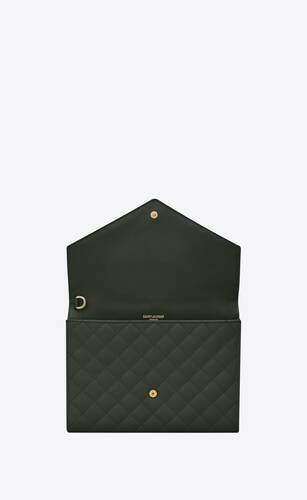 monogram clutch in quilted mix matelassé de poudre embossed leather