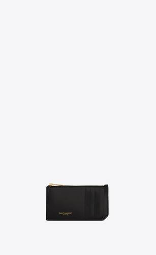 fragments zipped card case in shiny leather