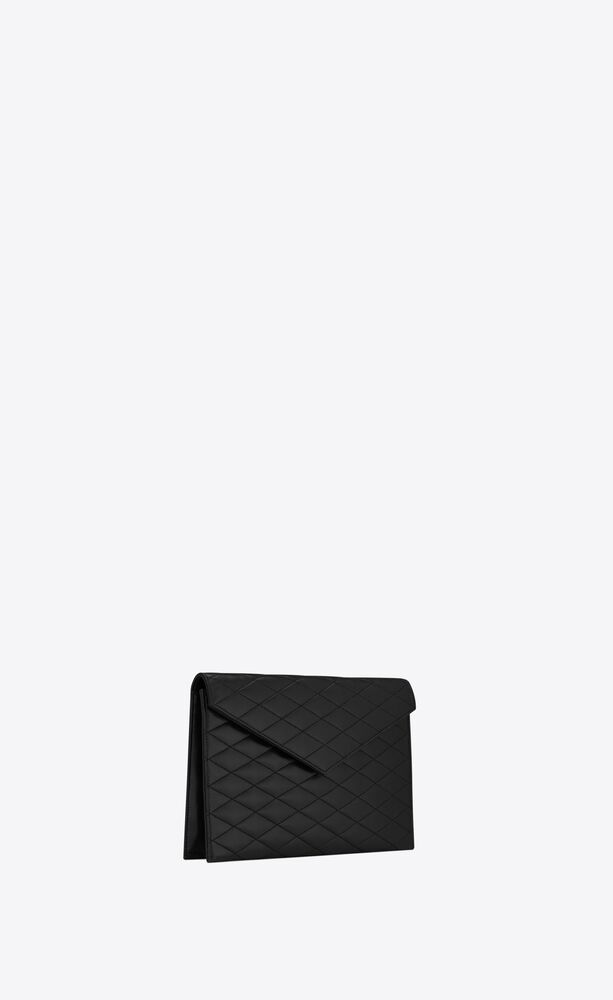 sade large envelope pouch in carré-quilted lambskin