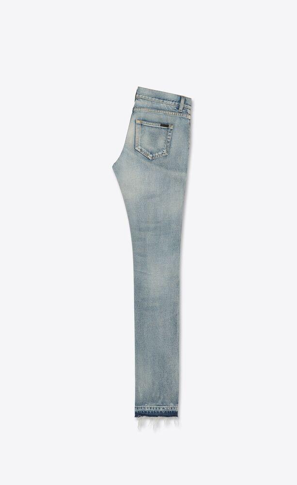 low-rise jeans in light fall blue denim