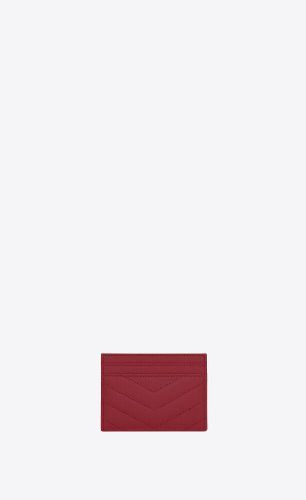 porte-cartes monogram en cuir matelassé et embossé grain de poudre