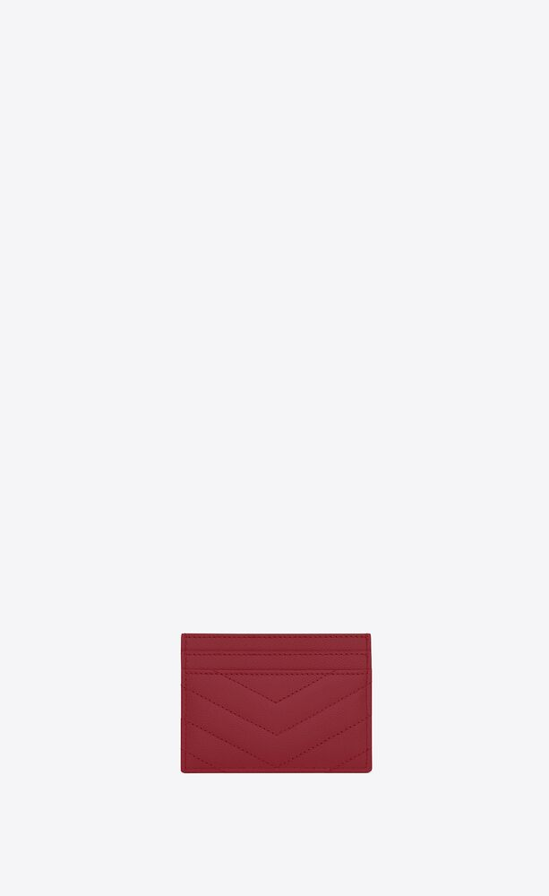 monogram card case in quilted grain de poudre embossed leather