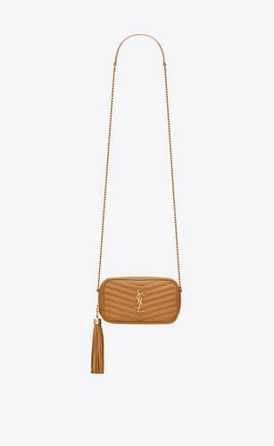 lou mini bag in grain de poudre embossed leather