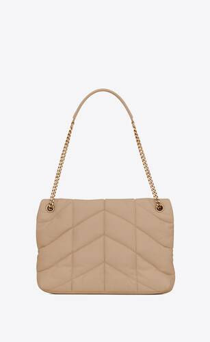 puffer medium bag in quilted lambskin
