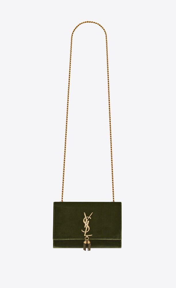 kate small bag with tassel in velvet