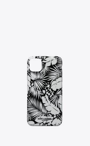 iphone 11 pro max case in tropical printed silicone