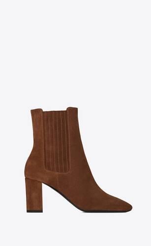 lou chelsea-stiefel aus veloursleder