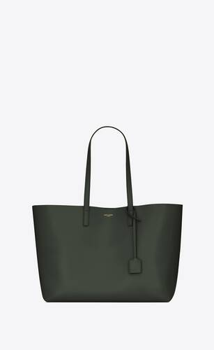saint laurent e/w shopper aus weichem leder