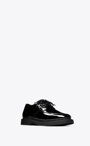 teddy derbies in patent leather