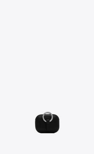 saint laurent paris airpods pro case cover in smooth leather