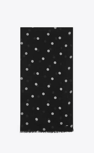 dotted cashmere scarf