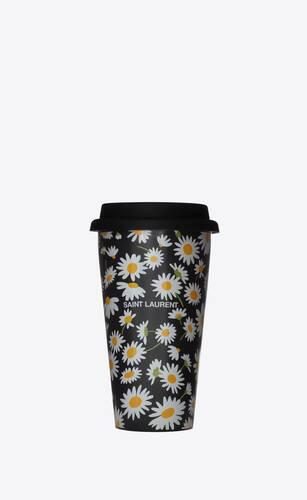 daisy print coffee mug in ceramic