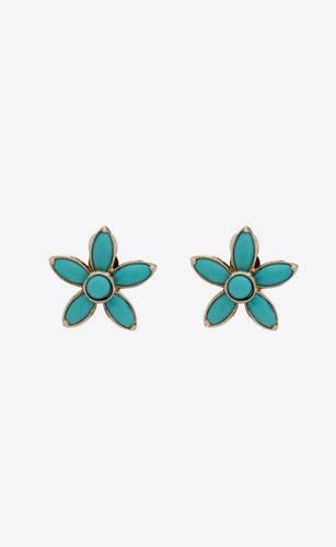 petites boucles d'oreilles fleur en métal