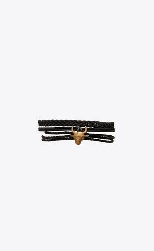 buffalo bracelet in passementerie and metal
