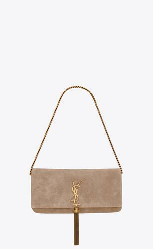 borsa kate 99 in suede con nappina