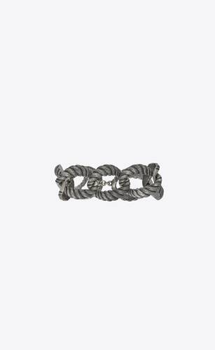 large rope chain bracelet in silver