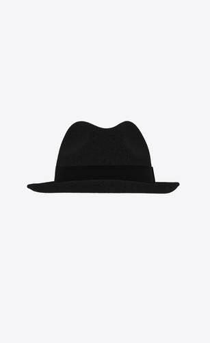 fedora hat in rabbit felt