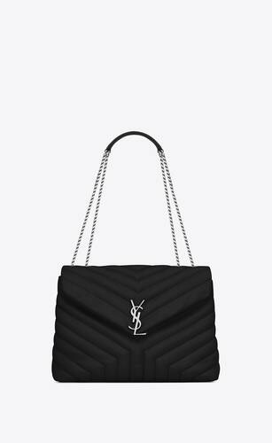 "loulou medium in quilted ""y"" leather"