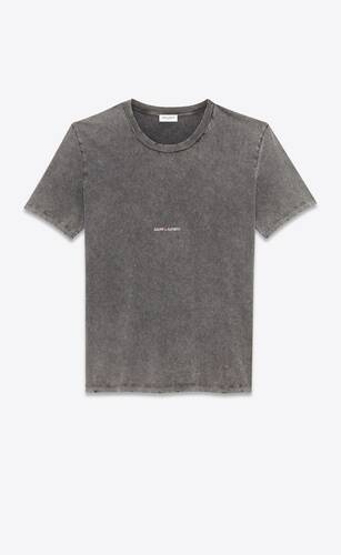 t-shirt saint laurent rive gauche destroy