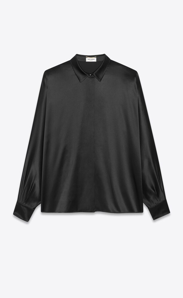 blouse in washed silk satin