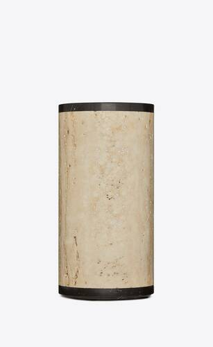 vase in travertine and marble