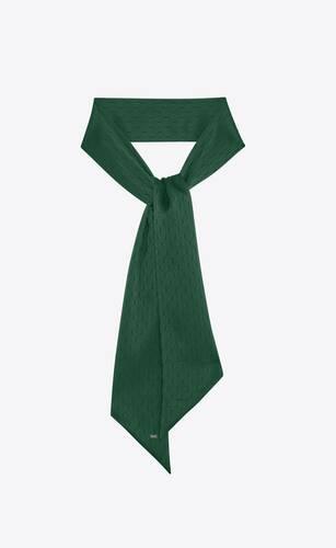 monogram lavallière scarf in silk jacquard