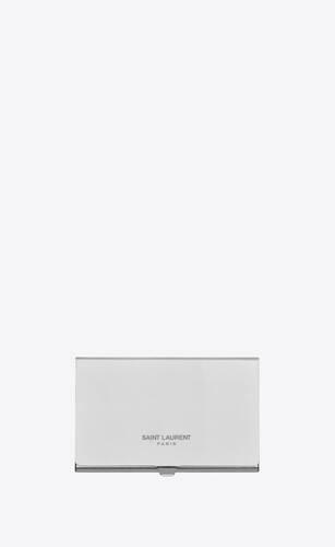 saint laurent card case in metal