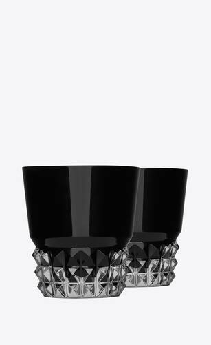 baccarat louxor glasses in black crystal