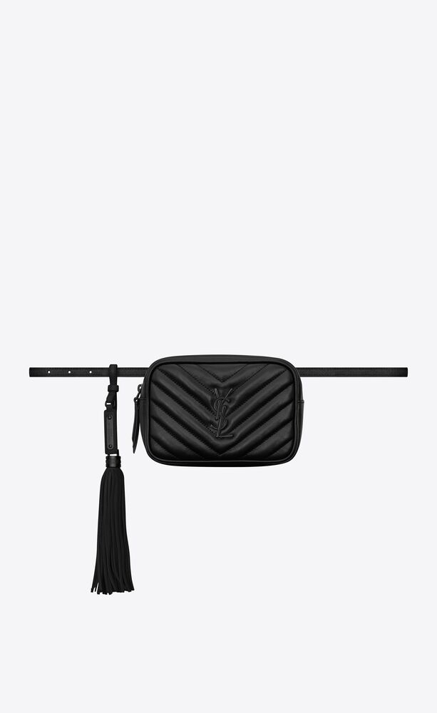 lou belt bag in quilted leather