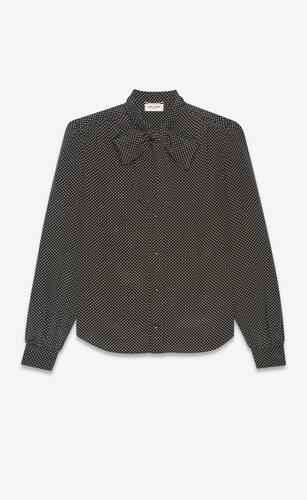 blusa con lazada lavallière de crepé de seda china